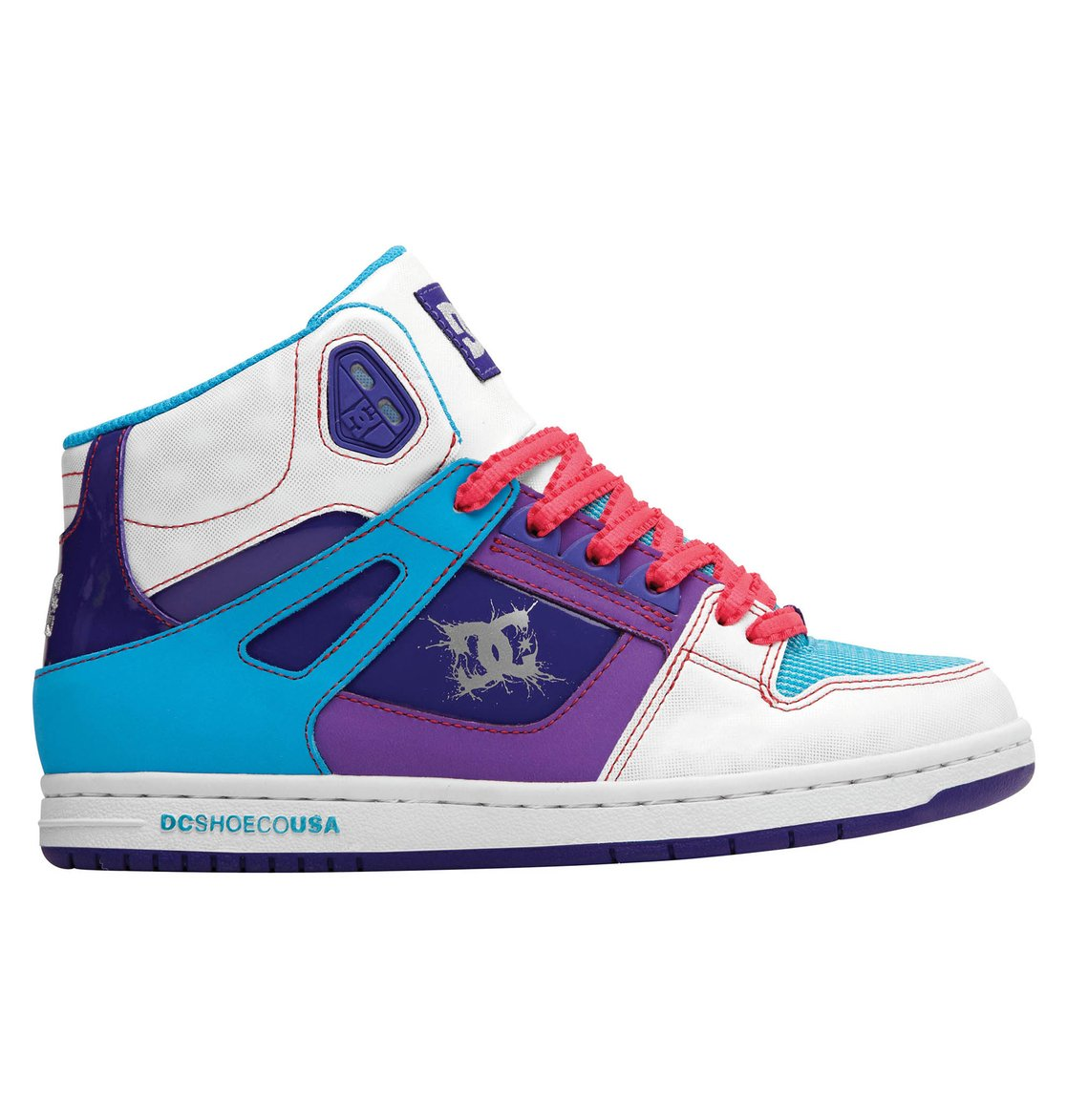 Dc Shoes Womens Purple And White