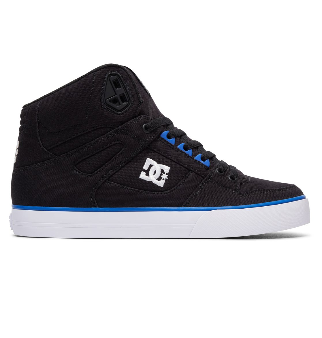 dc shoes high tops blue and black. 0 men\u0027s spartan high wc tx high-top shoes black 303435 dc dc tops blue and o
