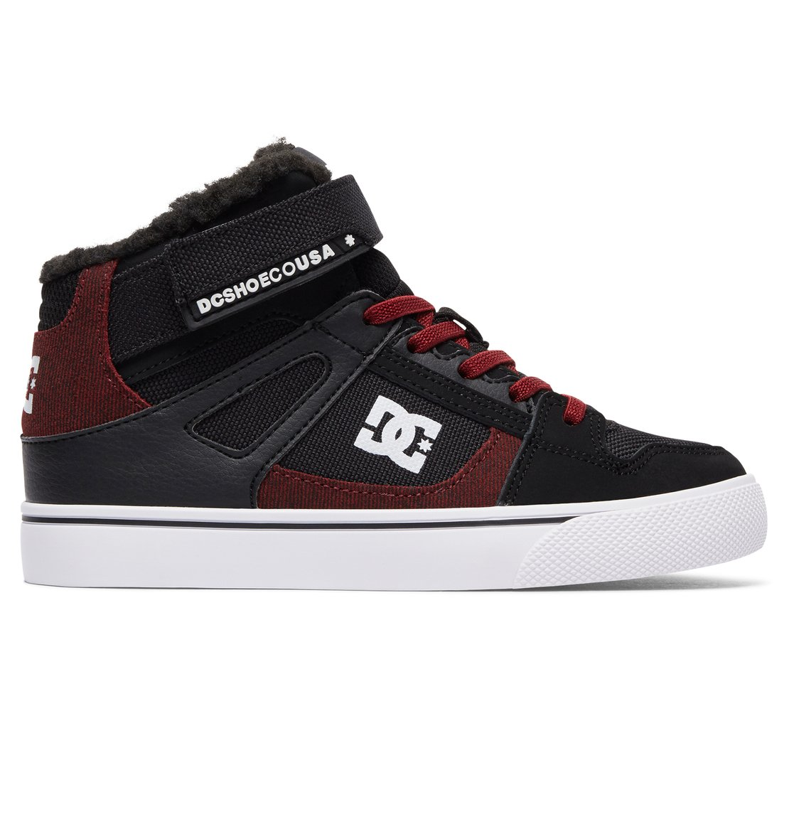 dc shoes high tops red and black. 0 kid\u0027s spartan high wnt ev top shoes black adbs300274 dc dc tops red and h