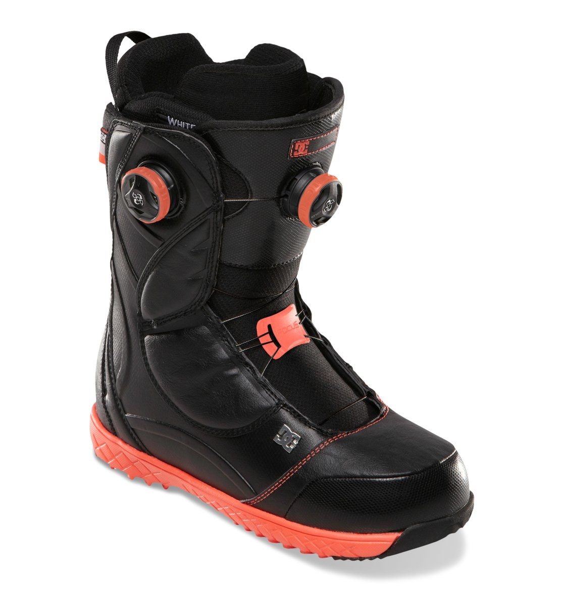 mora women Transfer from high-speed park laps to technical steeps seamlessly with the mid-stiff flex and dual-zone tightening of the dc women's mora boa snowboard boots.