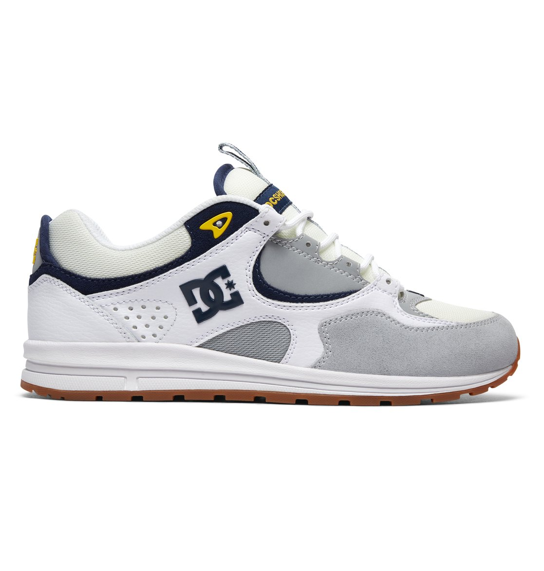 KALIS LITE - Skateschuh - white/grey/yellow h8mqkB