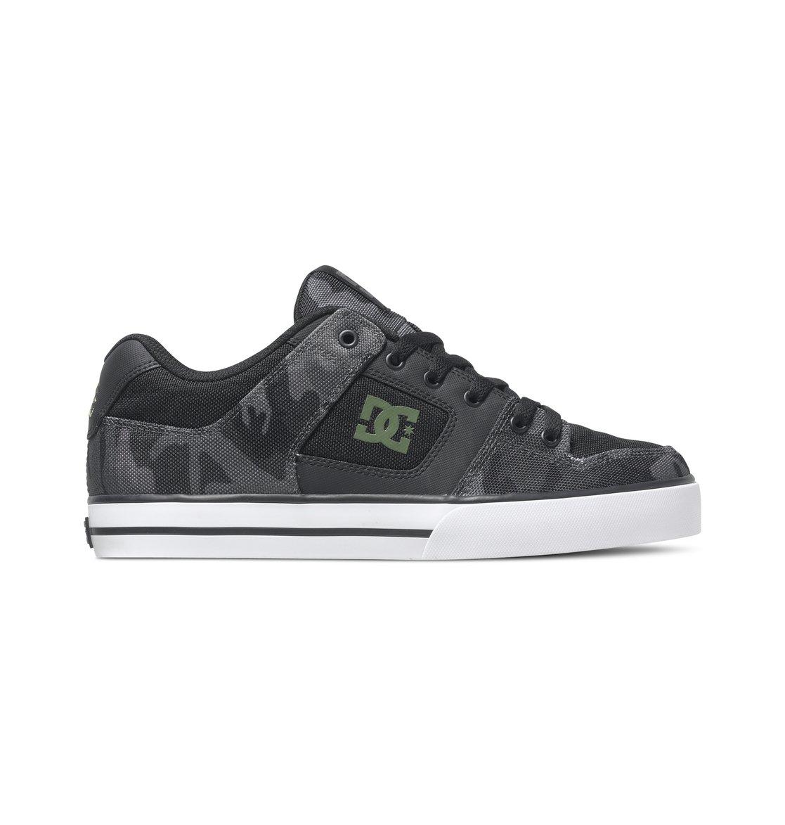 Dc Shoes Mens Skate Shoes Black/Camo Print
