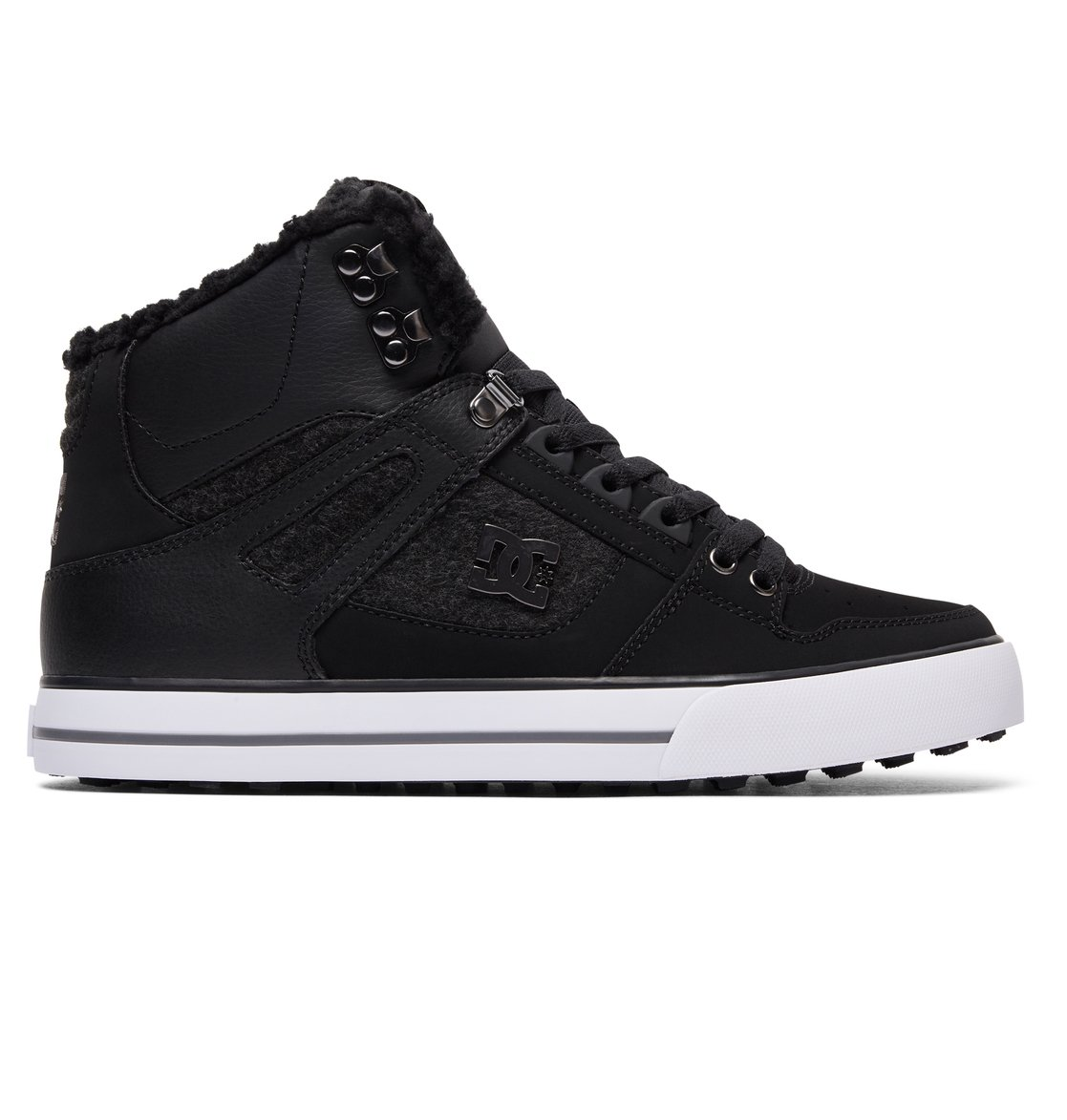 Latest DC Spartan High WC WNT Blue Skate Shoes for Men On Sale