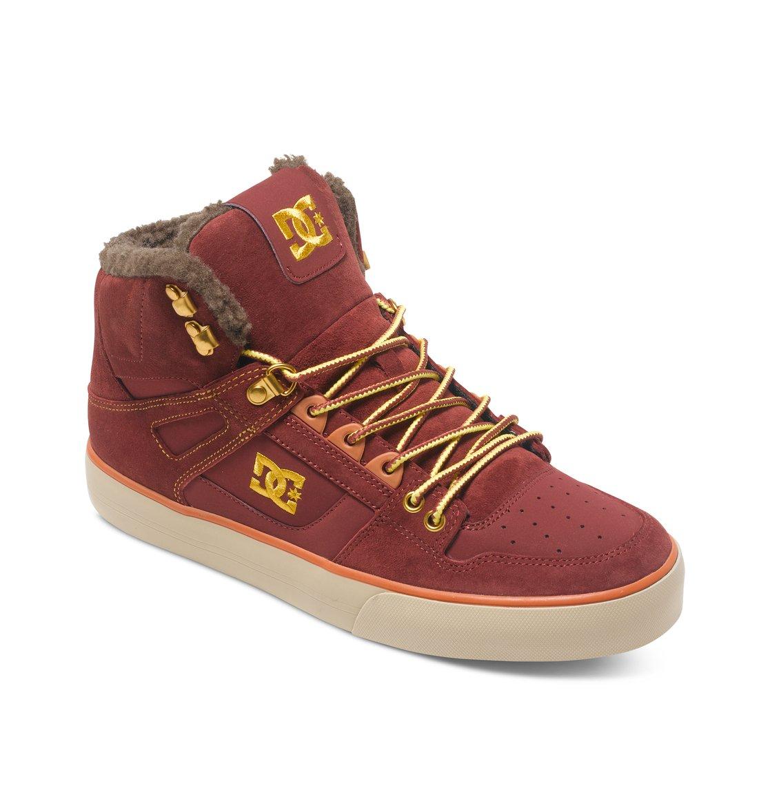 Dc Men S Spartan Hi Wc Skate Shoes Brown Size