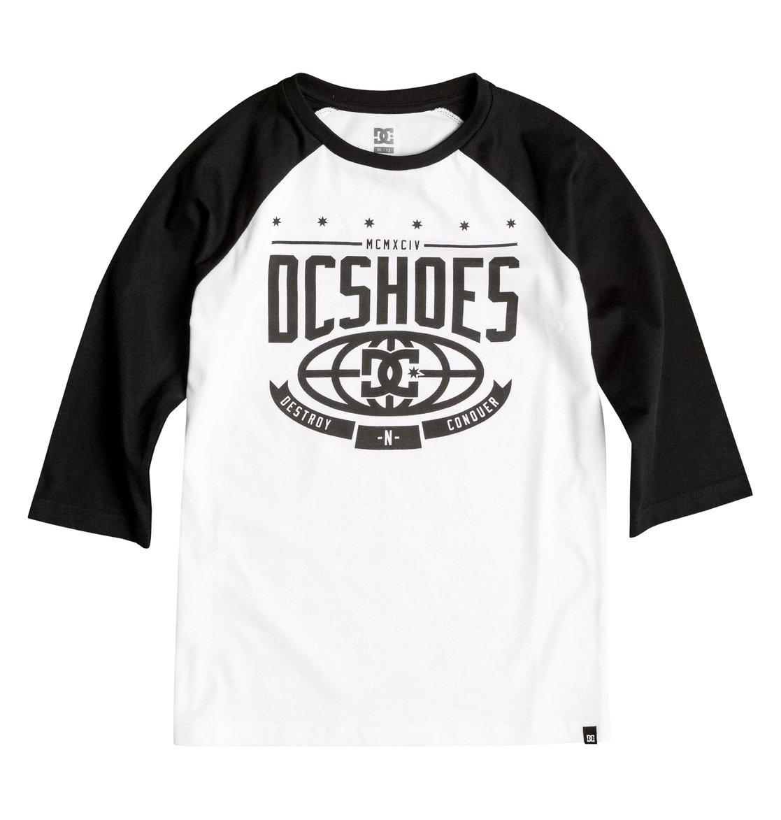 The Creed Raglan T-ShirtФутболка-реглан для мальчиков The Creed от DC Shoes. <br>ХАРАКТЕРИСТИКИ: стандартный крой, рукава-реглан, мягкий графический принт. <br>СОСТАВ: 100% хлопок.<br>