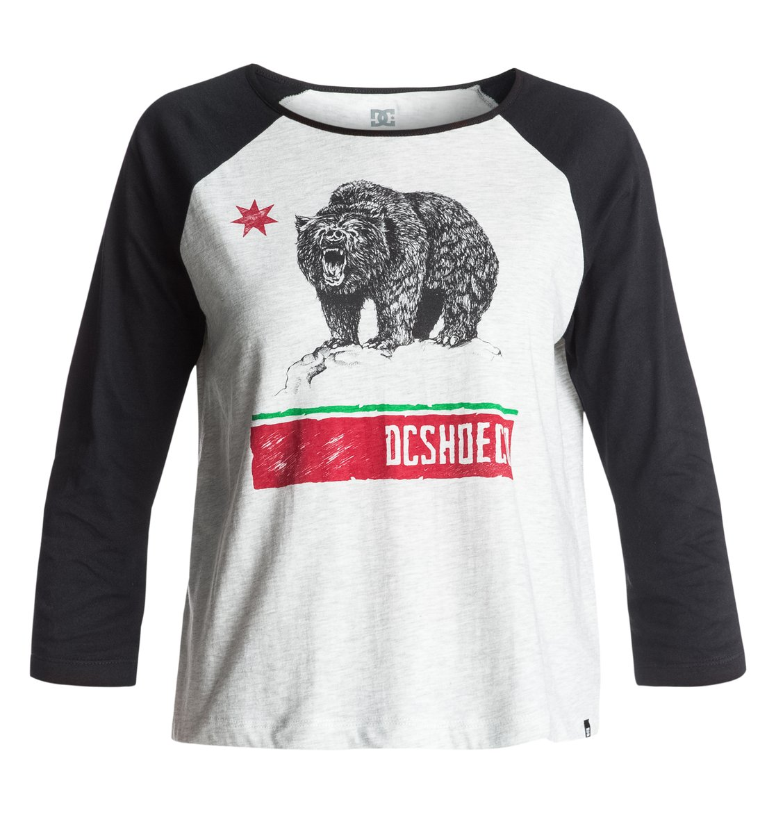 Wo Loose Angeles Raglan Cropped T-Shirt