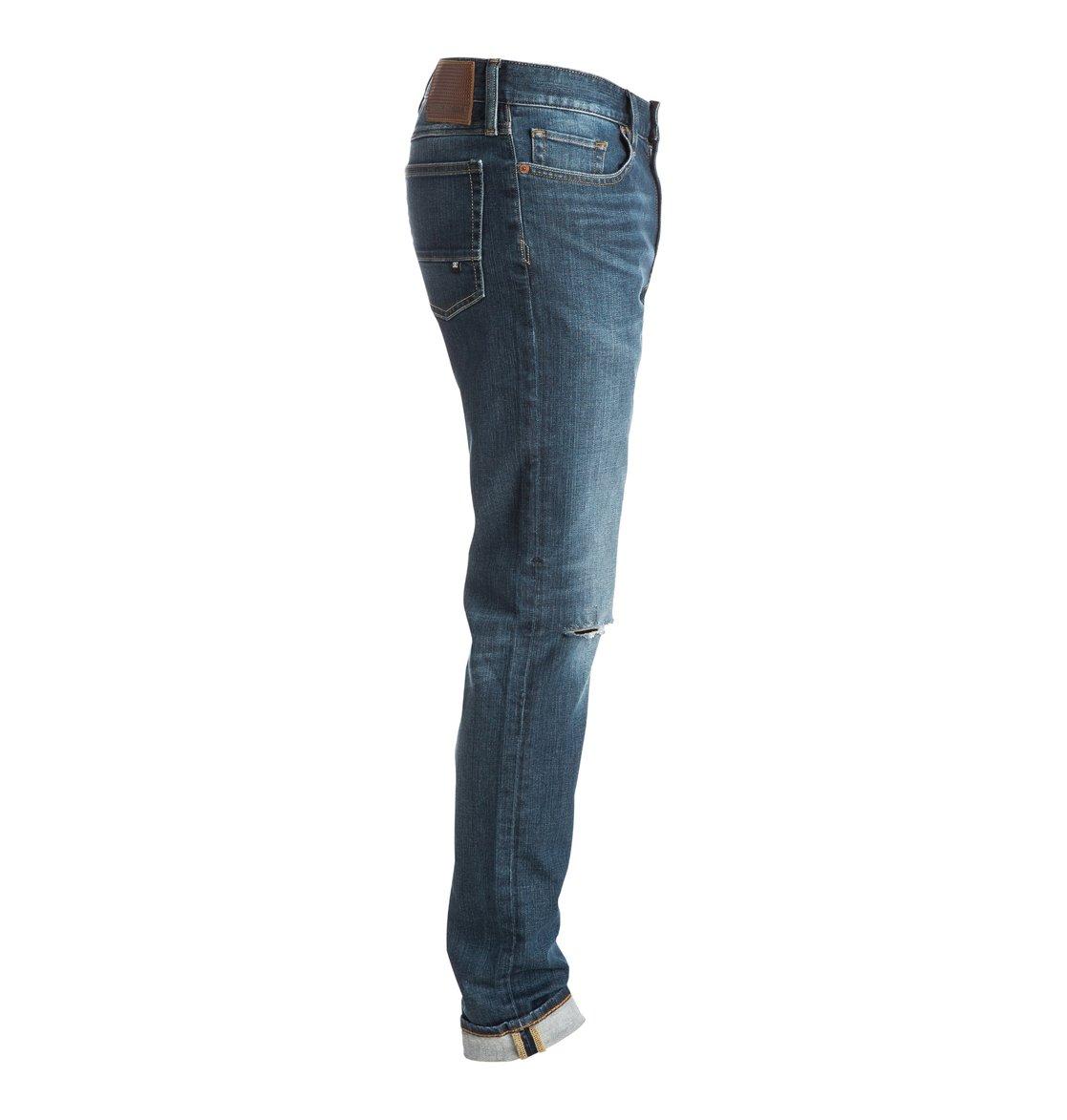 medium stone destroyed slim fit jeans edydp03271 dc shoes. Black Bedroom Furniture Sets. Home Design Ideas