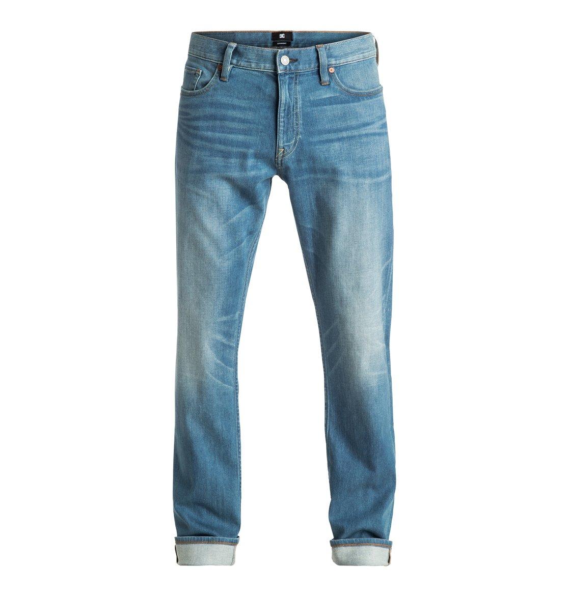 dc shoes Worker Medium Stone - Jeans Vestibilità Straight da Uomo - Blue - DC Shoes