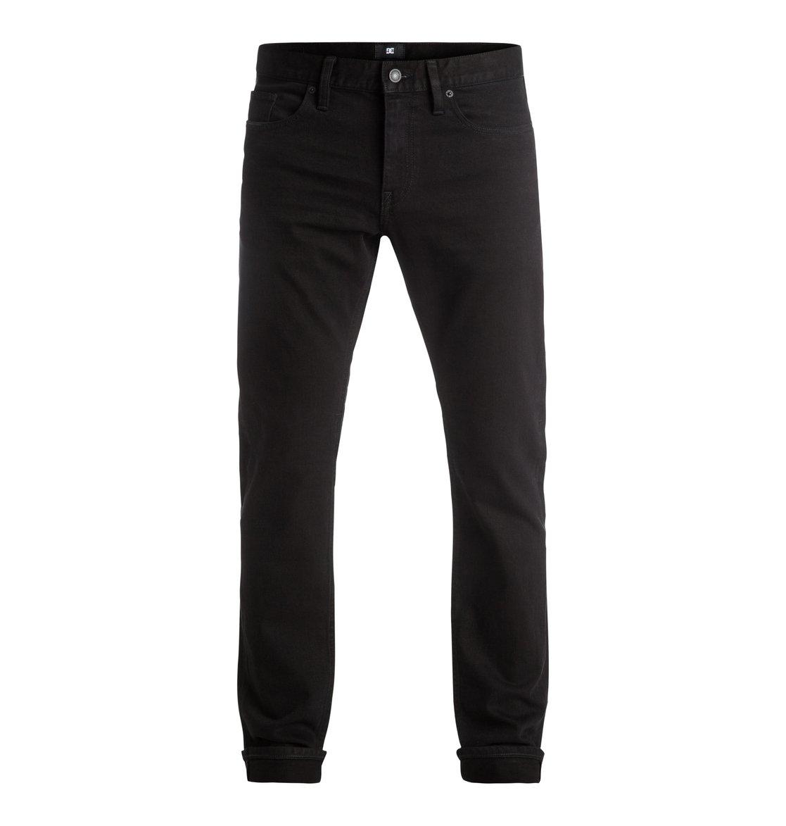 dc shoes worker rinse slim fit jeans men 34 black. Black Bedroom Furniture Sets. Home Design Ideas