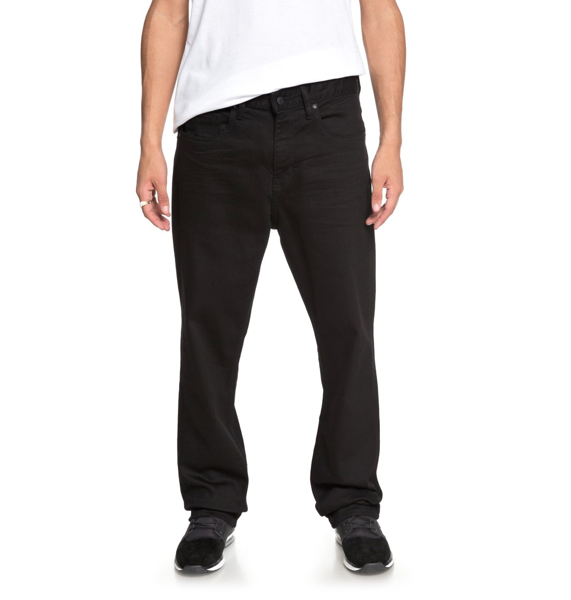 dc shoes Worker Black Rinse Straight - Jeans vestibilità Relaxed da Uomo - Black - DC Shoes