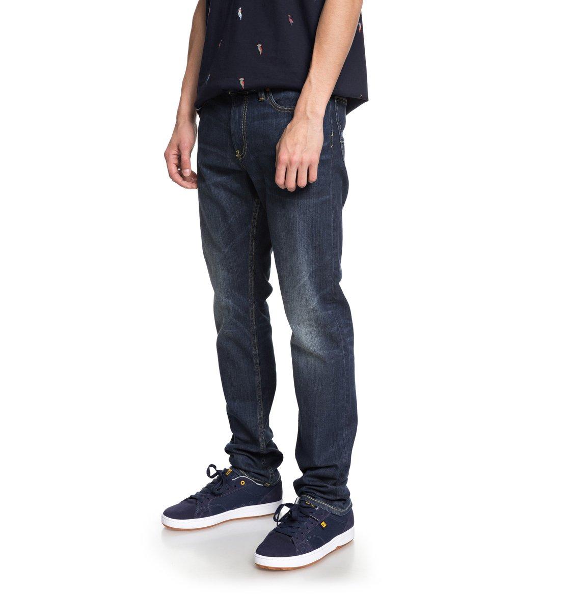dc shoes Worker Medium Stone - Jeans Vestibilità Slim da Uomo - Blue - DC Shoes