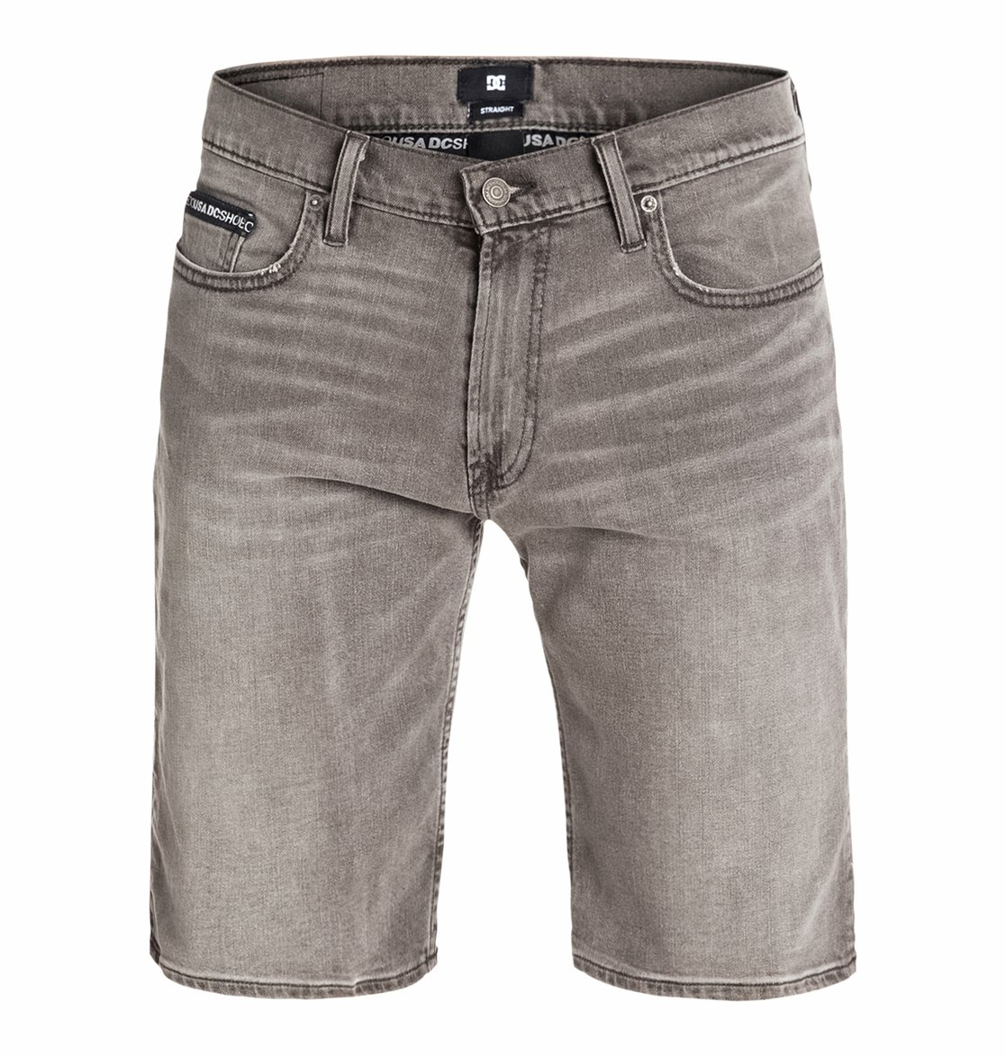 Worker Straight Denim Shorts Grey stone - Dcshoes������� ������ ����� Wkr Straight Dnm Shorts Grst �� DC Shoes � ������� �� ��������� ����� 2015. ��������������: ������� �� ������, ������������� ������, ������� � ������� DC.<br>