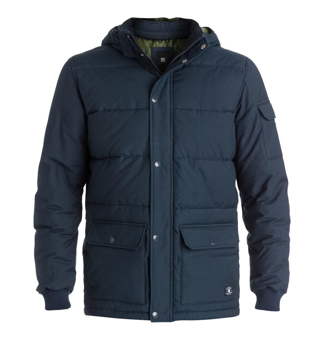 Arctic 2 - DcshoesМужская куртка Arctic 2 от DC Shoes. <br>ХАРАКТЕРИСТИКИ: парусиновая ткань из хлопка и нейлона, водостойка пропитка степени 600 мм, съемный капюшон, манжеты в рубчик, нарочито стеганый дизайн, контрастная цветная подкладка из полиэстера, внутренний карман, нижние карманы с двойной прорезью – сбоку и сверху, пластиковая молния и кнопки-застежки DC спереди, ярлык DC спереди внизу, фурнитура и отделка с маркировкой DC. <br>СОСТАВ: 74% хлопок, 26% нейлон/полиамид.<br>