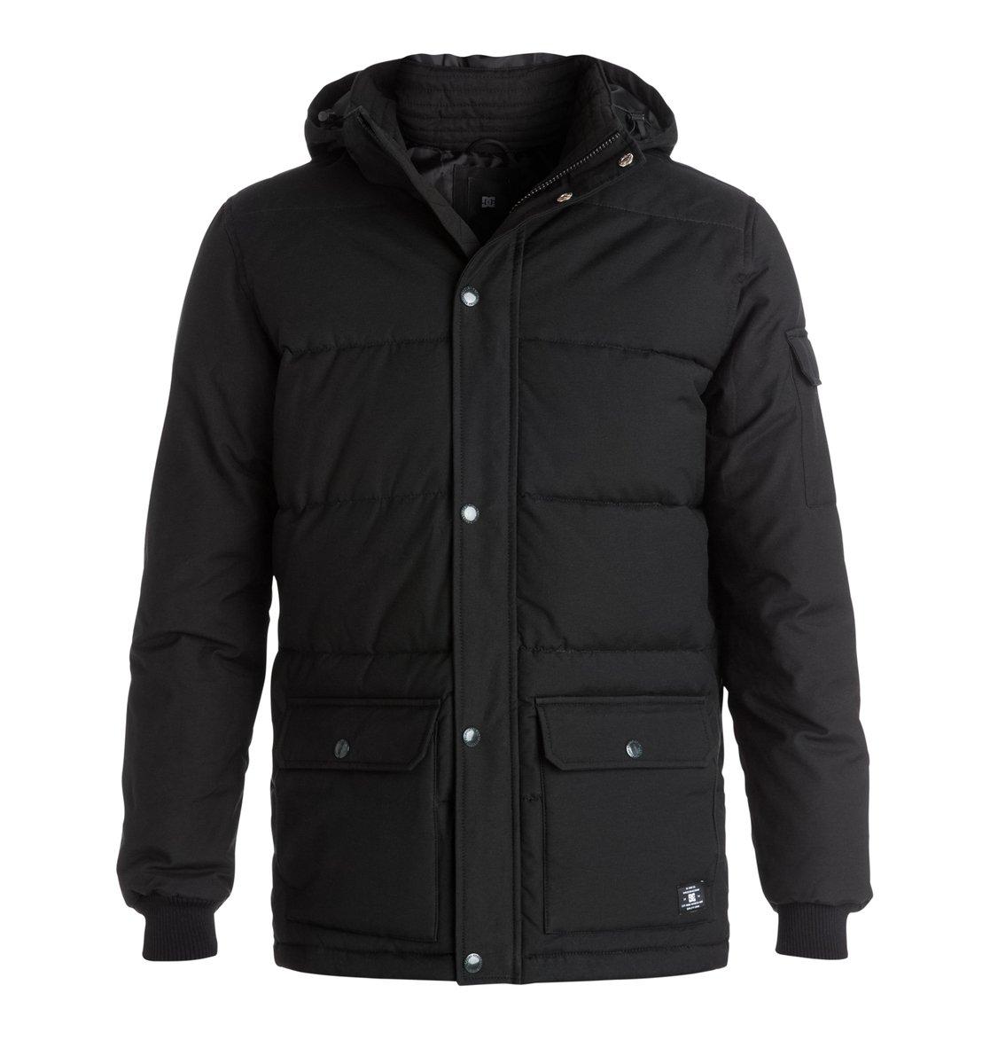Arctic 2Мужская куртка Arctic 2 от DC Shoes. <br>ХАРАКТЕРИСТИКИ: парусиновая ткань из хлопка и нейлона, водостойка пропитка степени 600 мм, съемный капюшон, манжеты в рубчик, нарочито стеганый дизайн, контрастная цветная подкладка из полиэстера, внутренний карман, нижние карманы с двойной прорезью – сбоку и сверху, пластиковая молния и кнопки-застежки DC спереди, ярлык DC спереди внизу, фурнитура и отделка с маркировкой DC. <br>СОСТАВ: 74% хлопок, 26% нейлон/полиамид.<br>