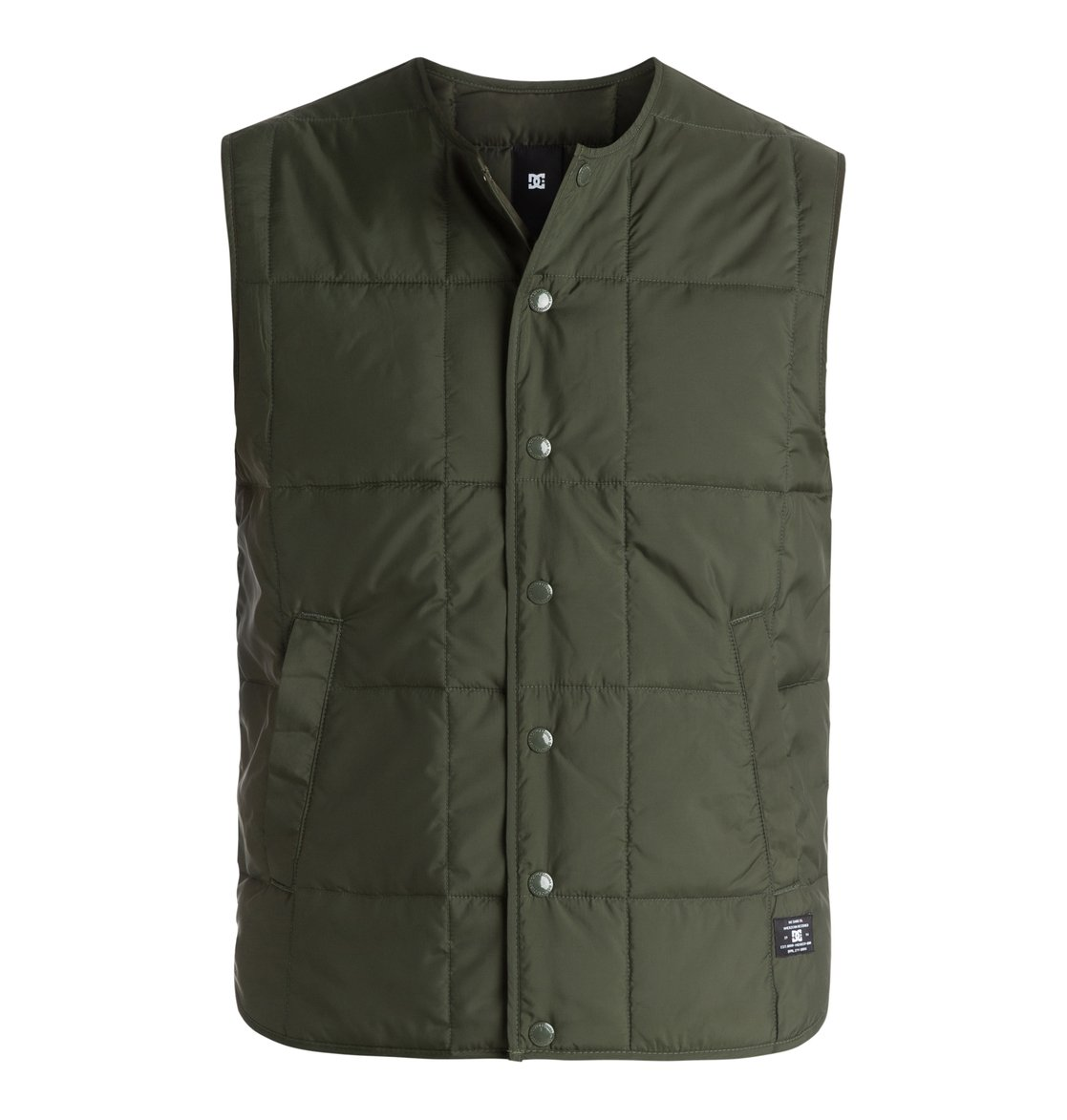 Стеганый мужской жилет FawdonThe Fawdon quilted gilet is the go-to-piece for lightweight warmth. Whether you wear it under a jacket as an extra layer, or over a shirt for added insulation, its versatile design and military-inspired aesthetics can be worked into any look. Crafted from soft square-quilted polyester taffeta the Fawdon is finished with enamel DC buttons and 2 handy front pockets.<br>