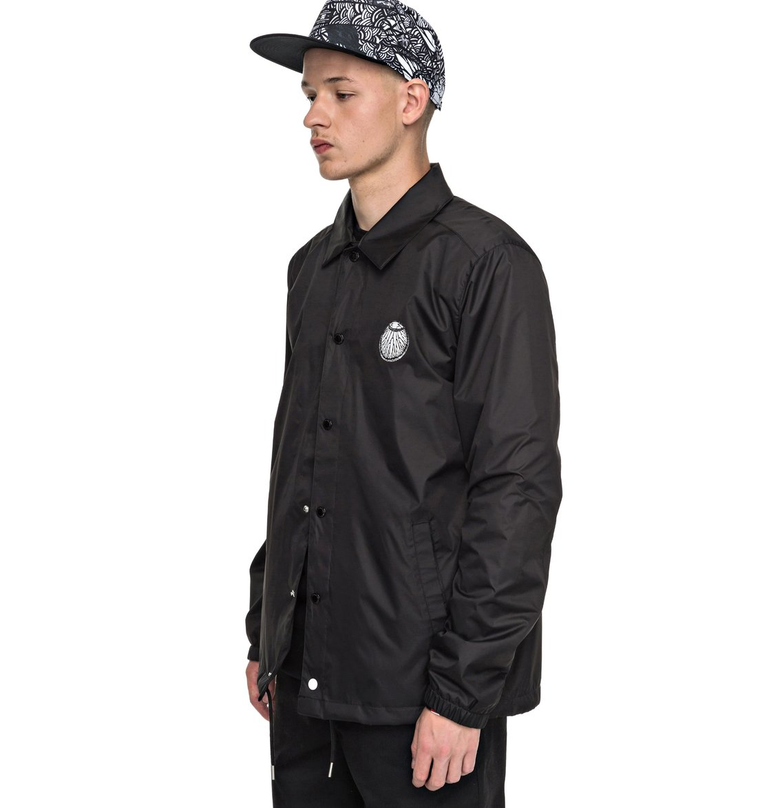 Men 39 s darbotz coach jacket edyjk03130 dc shoes for Coach jacket