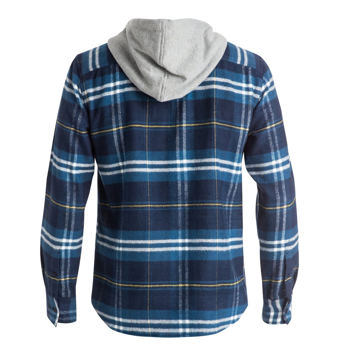 Dc shoes men 39 s hood up long sleeve flannel shirt for How to wear men s flannel shirts