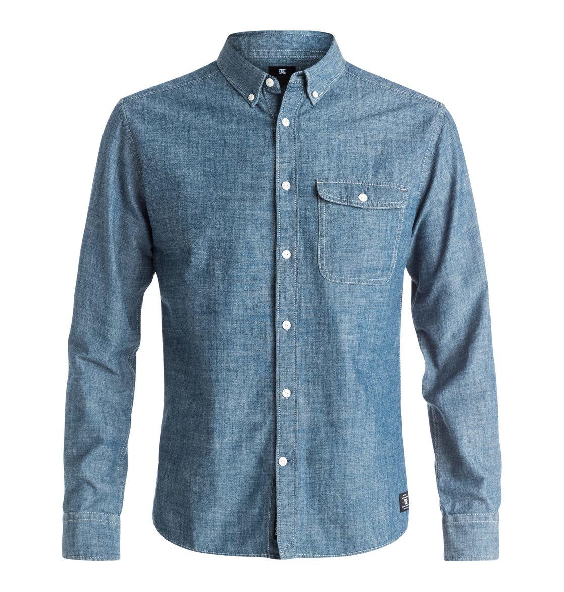 Riot Van Long Sleeve ShirtМужская рубашка с длинным рукавом Riot Van от DC Shoes.ХАРАКТЕРИСТИКИ: стандартный крой, хлопок-шамбре, нагрудный карман, воротник на пуговицах.СОСТАВ: 100% хлопок.<br>