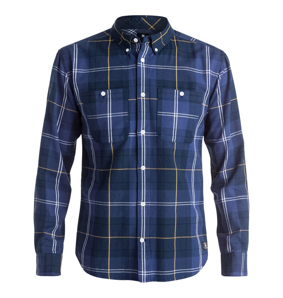 South Ferry Long Sleeve Shirt рубашка в клетку dc south ferry 2 south blue