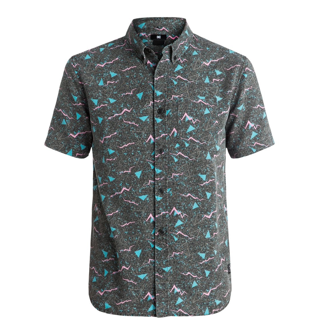 Odanah - Short Sleeve ShirtThis printed short sleeve shirt for men has been crafted from lightweight cotton poplin so its ideal for warm weather, whilst the all-over print on the white colourway features this seasons Storm Print, inspired by the ever-changing flashes of lightning on a stormy night.<br>