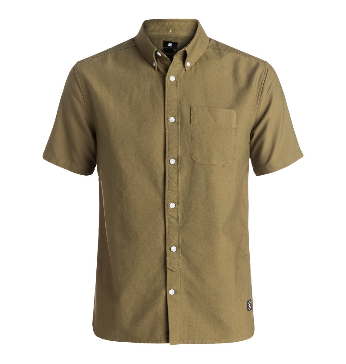 Men 39 s oxford short sleeve shirt edywt03144 dc shoes for Mens short sleeve oxford shirt