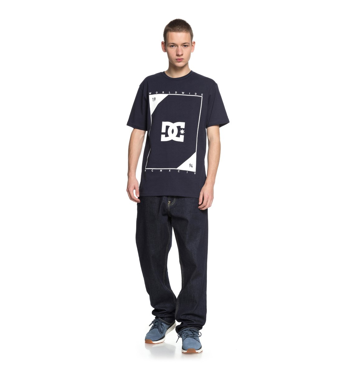 dc shoes Middle Theory - Maglietta da Uomo - Blue - DC Shoes
