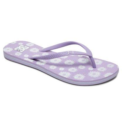 Купить Женские сланцы Spray Graffik - Фиолетовый, DC Shoes, Верх — пластик; подошва — каучук