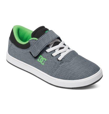 Crisis EV TX SE Low Top ShoesНизкие кеды для мальчиков Crisis EV TX SE от DC Shoes. <br>ХАРАКТЕРИСТИКИ: верхний стреп на липучке Velcro, эластичные шнурки, верх из премиального текстиля, эластичные шнурки. <br>СОСТАВ: верх – текстиль / подкладка – текстиль / подошва – каучук.<br>
