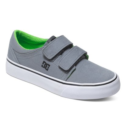 Trase V Low Top ShoesНизкие кеды для мальчиков Trase V от DC Shoes. <br>ХАРАКТЕРИСТИКИ: парусиновый верх, на двойной липучке Velcro, принт с логотипом, отверстия для шнуровки DC с металлической окантовкой. <br>СОСТАВ: верх – текстиль / подкладка – текстиль / подошва – каучук.<br>