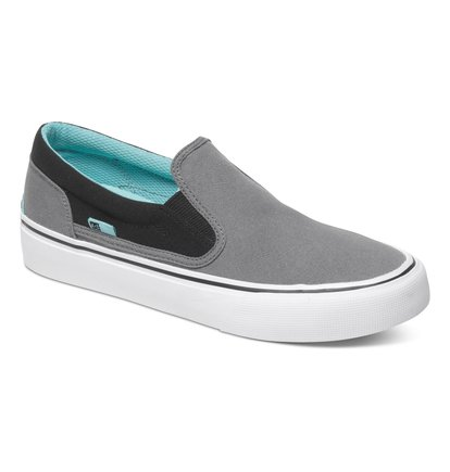 Wo Trase TX Slip On ShoesНизкие женские кеды Trase TX от DC Shoes. <br>ХАРАКТЕРИСТИКИ: низкопрофильный дизайн, минималистичный верх, логотип DCSHOECOUSA в районе пятки, логотип со звездой на подошве, высоко расположенная бейка – смотрится необычно и стильно, парусиновая скрепляющая лента, особый текстильный верх, эластичные вставки, ярлык с логотипом, сеточный внутренник с трафаретным принтом с логотипом, вулканизированная конструкция, износостойкая каучуковая подошва, фирменный «утопленный» рисунок протектора подошвы DC Pill Pattern. <br>СОСТАВ: верх – текстиль / подкладка – текстиль / подошва – каучук.<br>