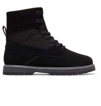 Ботинки Uncas - Черный, DC Shoes, ВЕРХ — кожа, ПОДКЛАДКА — текстиль, ПОДОШВА — каучук  - купить со скидкой
