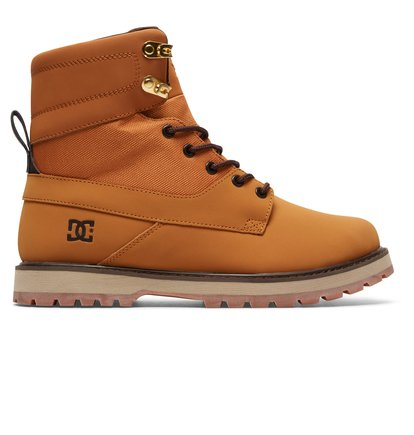 Ботинки Uncas - Коричневый, DC Shoes, ВЕРХ — кожа, ПОДКЛАДКА — текстиль, ПОДОШВА — каучук  - купить со скидкой