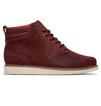 Купить Ботинки Mason - Красный, DC Shoes, ВЕРХ — кожа, ПОДКЛАДКА — текстиль, ПОДОШВА — каучук