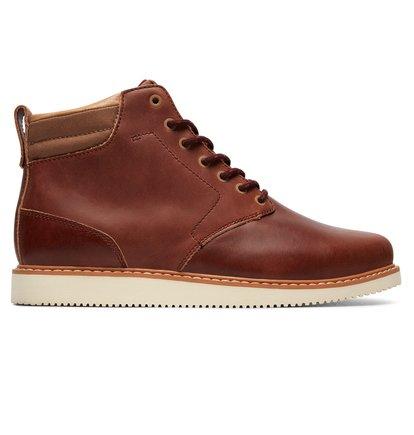Купить Ботинки Mason LX - Красный, DC Shoes, ВЕРХ — кожа, ПОДКЛАДКА — текстиль, ПОДОШВА — каучук