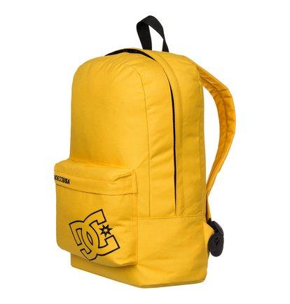 Bunker Solid BackpackМужской рюкзак Bunker Solid от DC Shoes. <br>ХАРАКТЕРИСТИКИ: вместительное основное отделение, передний карман с принтом DCSC на молнии и логотип DC с вышитым контуром, уплотненные заплечные лямки с регулировкой длины, уплотненная спинка, сплошной однотонный дизайн, размер – 45 x 30 x 14 см, объем – 18,5 л. <br>СОСТАВ: 100% полиэстер.<br>