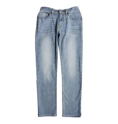 Worker Light Indigo Blue - Straight Fit Jeans  EDBDP03046