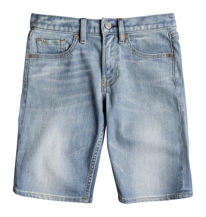 Worker Light Indigo Blue - Denim Shorts  EDBDS03014