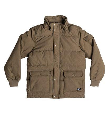 ArcticДетская куртка Arctic от DC Shoes. <br>ХАРАКТЕРИСТИКИ: парусиновая ткань из хлопка и нейлона, водостойка пропитка степени 600 мм, съемный капюшон, манжеты в рубчик, нарочито стеганый дизайн, контрастная цветная подкладка из полиэстера, нижние карманы с двойной прорезью – сбоку и сверху, пластиковая молния и кнопки-застежки DC спереди, ярлык DC спереди внизу, фурнитура и отделка с маркировкой DC. <br>СОСТАВ: 74% хлопок, 26% нейлон/полиамид.<br>