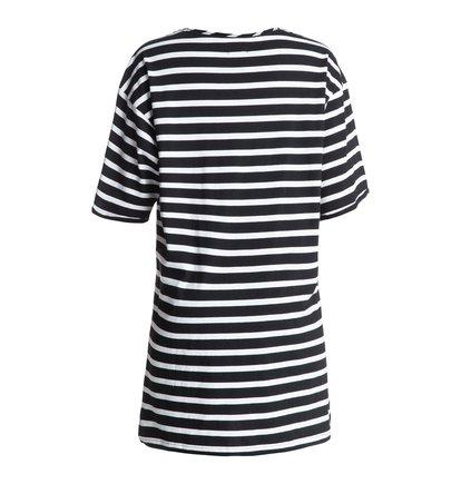 Wo Loose Dress Stripes Dress - DcshoesЖенское платье Stripes от DC Shoes. <br>ХАРАКТЕРИСТИКИ: мягкий трикотаж, свободный крой, в полоску, закрепленные подвернутые рукава. <br>СОСТАВ: 100% хлопок.<br>