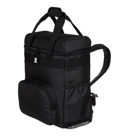 Kewler - 20L Cooler BackpackThis DC Shoes backpack cooler is the ultimate hot-weather accessory. From summer skate sessions and hot beach days to barbecues and school runs, this practical, fully-insulated 20L cooler is easy to carry with padded backpack straps and top carry handles. Its wet/dry cooler compartment keeps meals and drinks fresh whilst the stretch side pockets offer easy storage.<br>