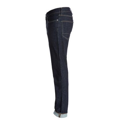 Worker Straigh34 JeansМужские джинсы Worker Straigh34 от DC Shoes. <br>ХАРАКТЕРИСТИКИ: классические пять карманов, эластичный синий деним плотностью 340 г/кв. м, прямой крой, ширинка на молнии. <br>СОСТАВ: 98% хлопок, 2% эластан.<br>