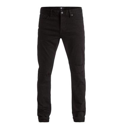 Black Destroyed - Slim Fit Jeans  EDYDP03272