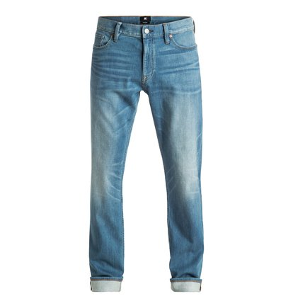 Washed Indigo Bleach - Straight Fit Jeans  EDYDP03285