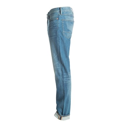 Washed Indigo Bleach - Straight Fit Jeans