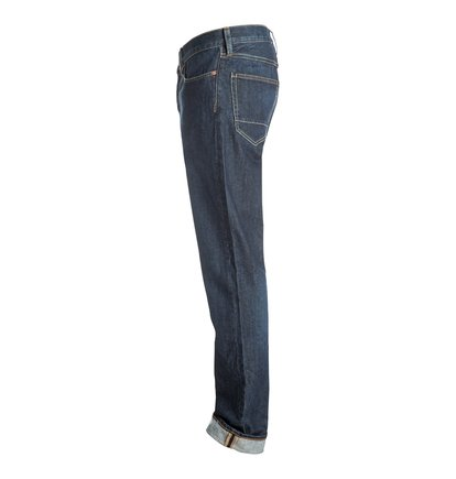 Worker Straight Stone Wash - Straight Fit Jeans<br>
