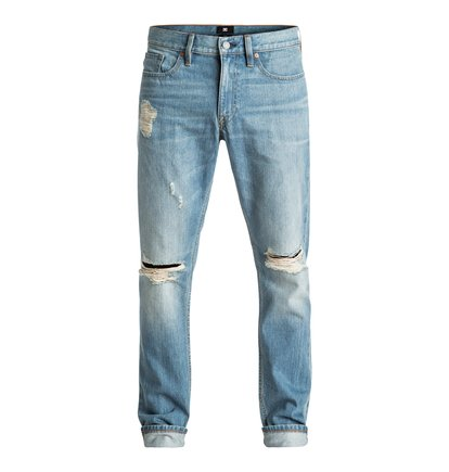 Washed Indigo Desty - Straight Taper Fit Jeans  EDYDP03306