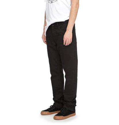 Широкие джинсы Worker Black Rinse Straight