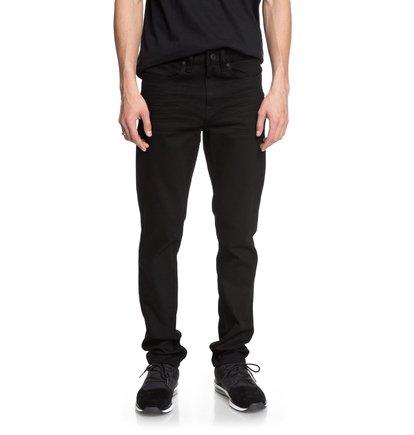 Купить Узкие джинсы Worker Black Rinse - Черный, DC Shoes, 98% хлопок, 2% эластан