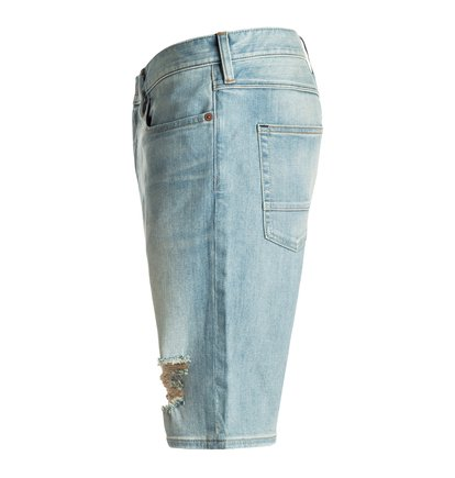 Washed Straight - Denim Shorts<br>
