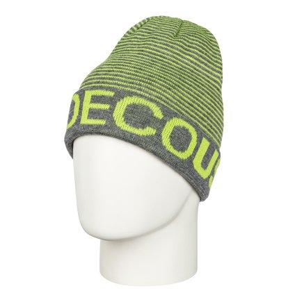 BromontМужская шапка-beanie Bromont из сноубордической коллекции DC Shoes. ХАРАКТЕРИСТИКИ: жаккардовый логотип с одной стороны и полоски с другой, жаккардовая маркировка DCSHOECOUSA с одной стороны и полоска с другой. СОСТАВ: 100% акрил.<br>